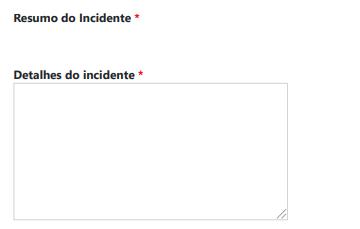 SISTEMA CADASTRO DE INCIDENTES