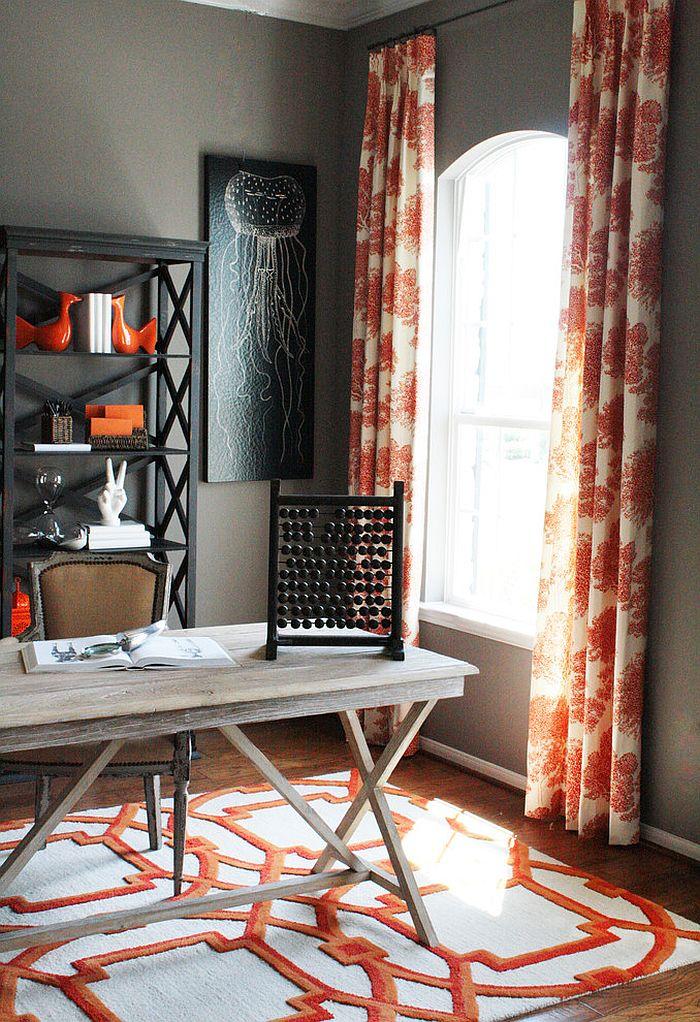 Thiết kế nội thất gia đình màu cam