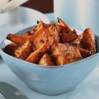 Roasted Squash and Sweet Potato with Lime and Chili.