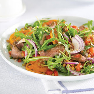 Moroccan Beef and Lentil Salad