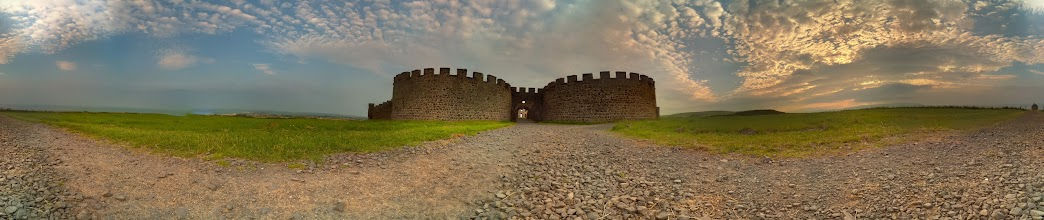 Photo: Downhill Castle looking down to Mussenden temple. Taken at 9pm with the Raspberry Pi camera board (60 separate photographs). Stitched with Hugin #RPPA