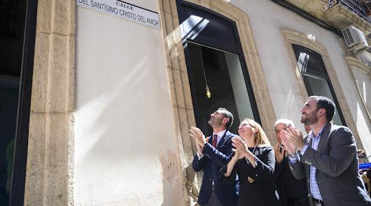 El Cristo del Amor ya tiene su calle en las inmediaciones de San Sebastián