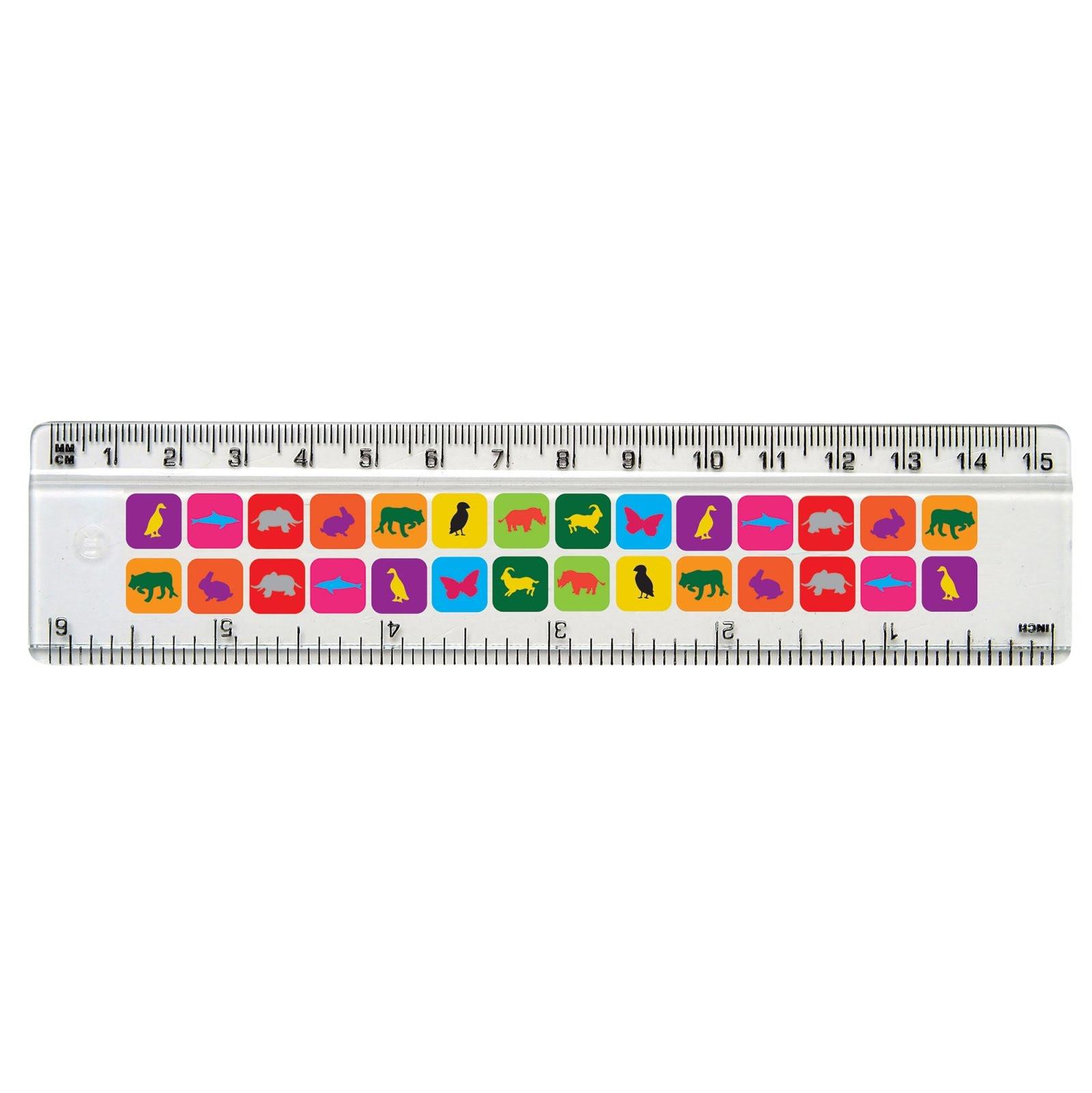 Colourful Rulers - 15cm