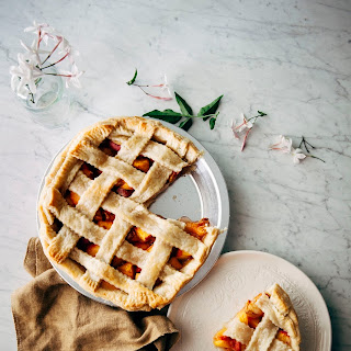 Bourbon and Brown Sugar Peach Pie