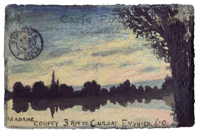 <p> <strong>L&eacute;on Coupey<br /> To Madame Coupey (Enghien, S.+O.)</strong><br /> Ink &amp; crayon on card<br /> 3 &frac12;&quot; x 5 &frac12;&quot;<br /> 1906</p> <p> Collection Tarek Barbir, London<br /> Estate of Marguerite Coupey Barbir, Montreal<br /> Set 3A.11&nbsp;</p>