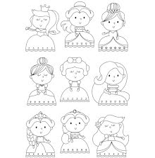 Simple Stories Little Princess Clear Stamps 4X6 - Pretty Princess UTGÅENDE