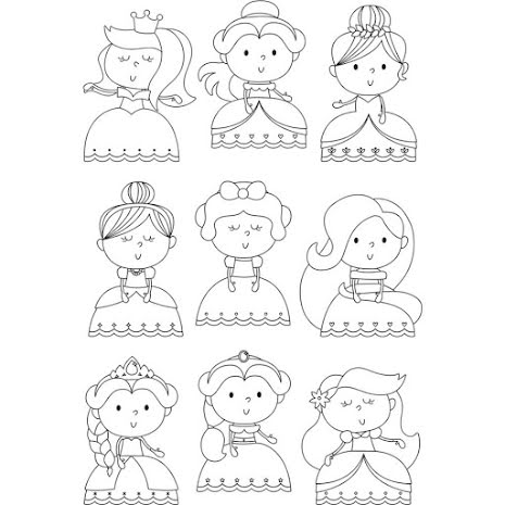 Simple Stories Little Princess Clear Stamps 4X6 - Pretty Princess UTGÅENDE