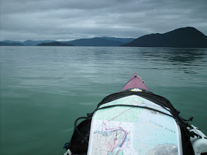 Photo: July 7 - Crossing Stikine Strait toward Kadin and Liesnoi Islands.