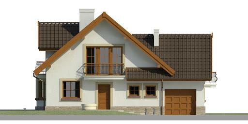 Dom przy Pomarańczowej 2 - Elewacja przednia