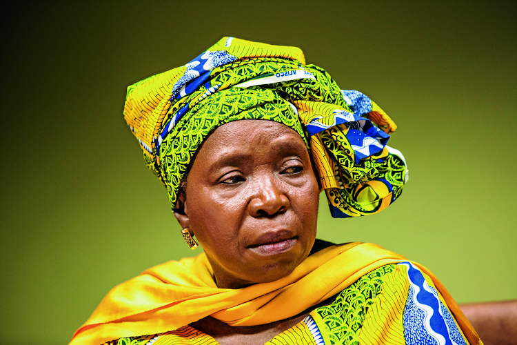 Minister of co-operative governance & traditional affairs Nkosazana Dlamini-Zuma.