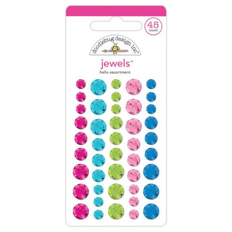 Doodlebug Jewels 45/Pkg - Hello