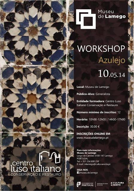 Workshops de azulejo, talha, fresco e têxtil | INSCRIÇÕES ABERTAS