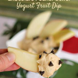 Peanut Butter Chocolate Yogurt Fruit Dip.