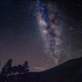 Milky way and Sierra Negra Mountain by Cristobal Garciaferro Rubio - Landscapes Mountains & Hills ( night photography, night scene, nightscapes, milky way, nightscape )