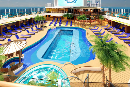 You can get some quality Beach Pool time aboard Carnival's Mardi Gras (rendering).