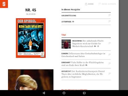 Der spiegel app report on mobile action for Der spiegel mobil