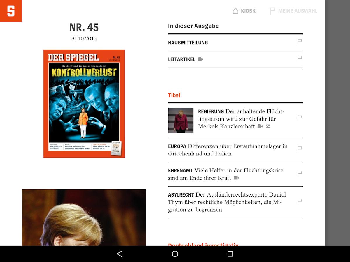 Der spiegel android apps auf google play for Der spiegel letzte ausgabe
