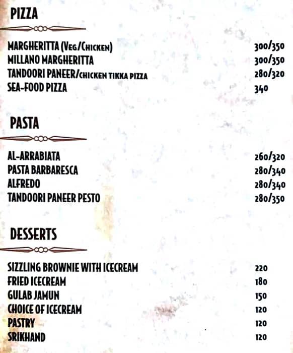 Deja Vu Resto Bar menu 2