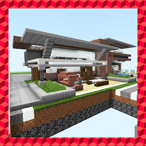 Ultramodern house. MCPE map