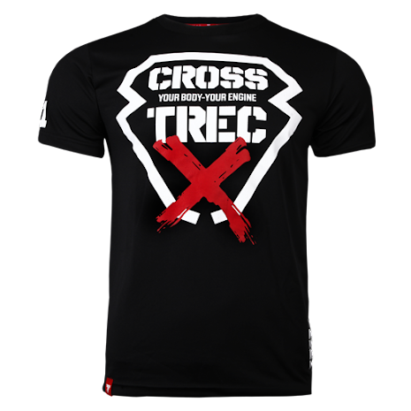 Trec T-shirt Black Cross - XL