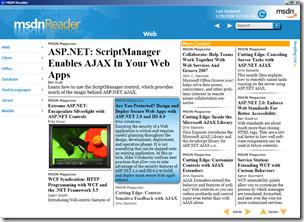 MSDN Reader