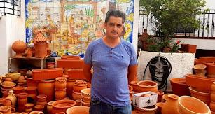 José Miguel García en su taller.
