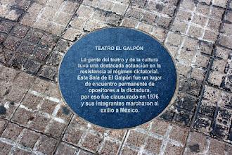 Photo: Marcas de la Memoria (6) Teatro El Galpón. Avda. 18 de Julio 1618 (entre Carlos Roxlo y Minas). Placa conmemorativa.