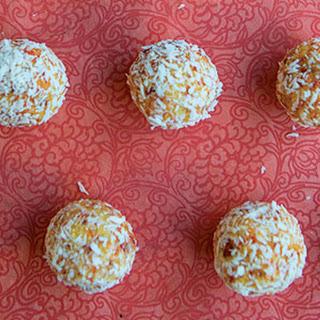 Coconut Goji Berry Snowball Truffles
