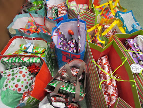 Photo: Christmas gifts for the kare kits kidz from our friends at About Face!!