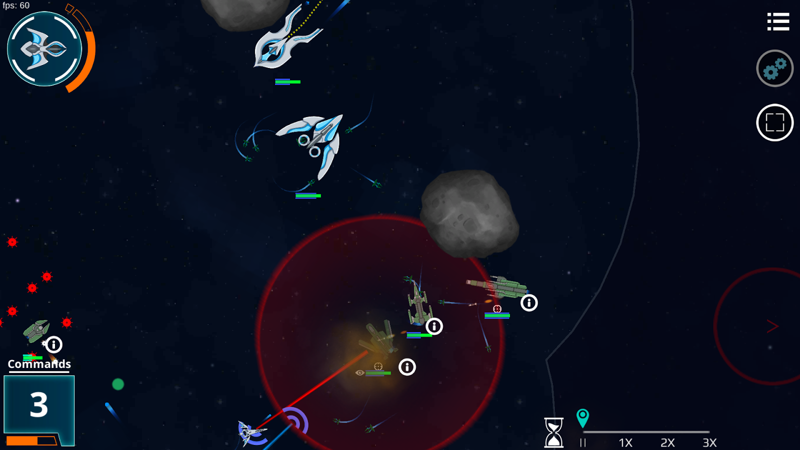 Galaxy of Iron - Starship RTS- screenshot