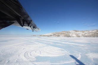 Photo: Leaving Terra Nova Bay -- that's the Italian base, Mario Zucchelli Station, in the background