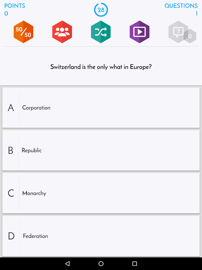 Quiz about USA- screenshot
