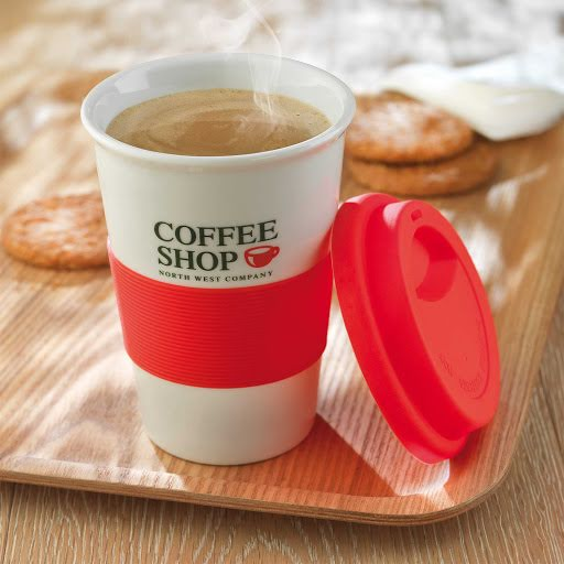 Ceramic Coffee Mug With Silicone Lid Orange