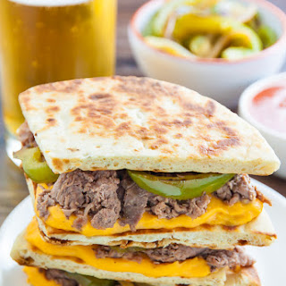 Loaded Philly Cheesesteak Quesadillas