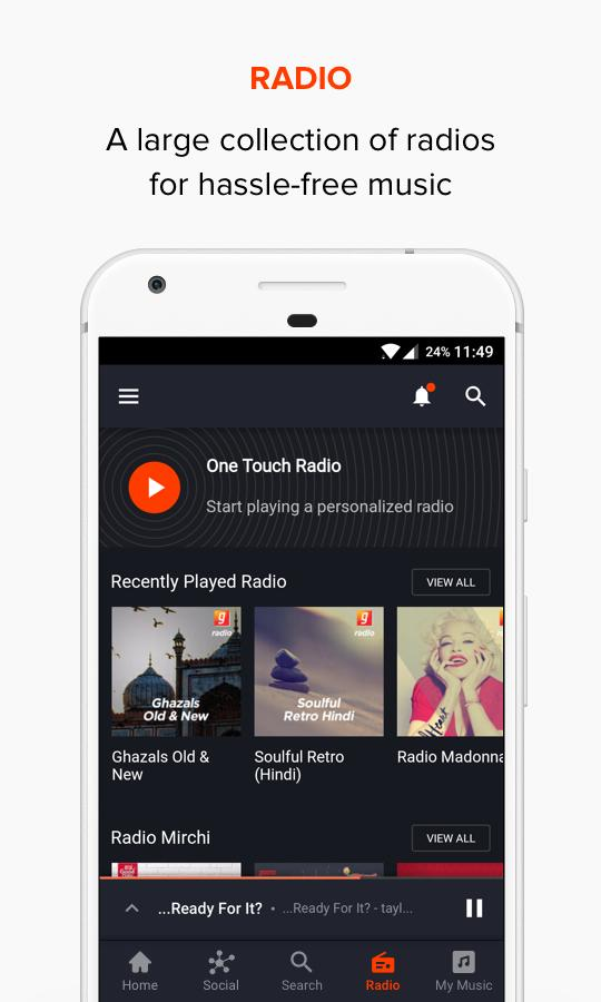 Gaana Music Premium (Ad Free Mod) Bollywood Songs latest Version 7.8.9.1 2