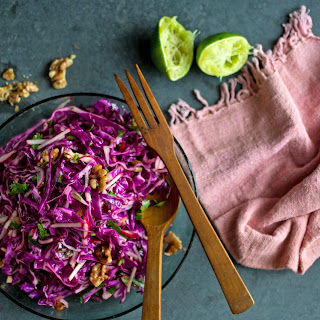 Asian Red Cabbage and Walnut Salad