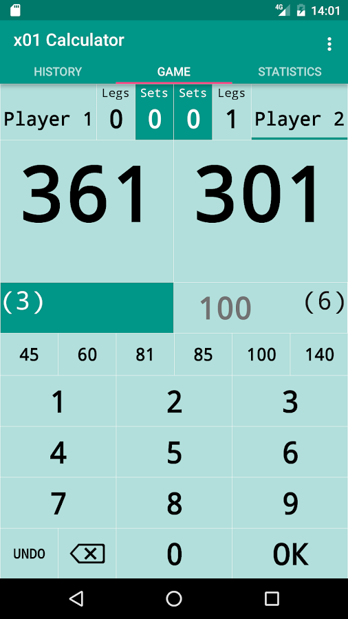 darts calculator