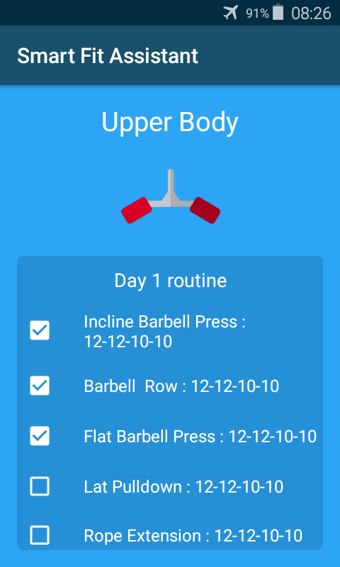 Screenshots of Smart Fitness Assistant for iPhone