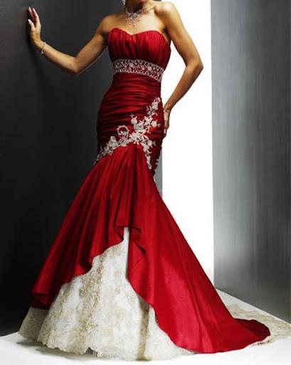 화려한 웨딩 드레스