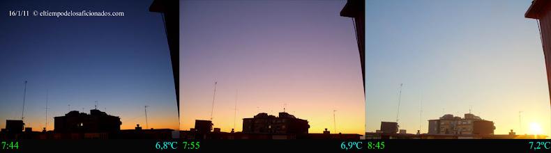 Photo: Amanecer del día 16/01/11