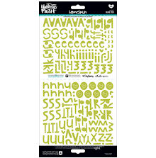 BellaBlvd Illustrated Faith Basics Stickers 6X12 194/Pkg - Olive You Alpha UTGÅE