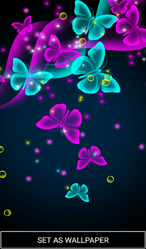 Neon Butterfly Live Wallpaper Android App Screenshot