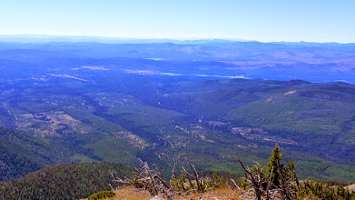 Photo: Seeley Lake area as viewed from the summit of Pyramid Peak