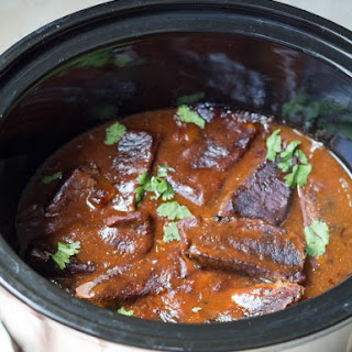 Slow Cooker BBQ Beef Ribs.