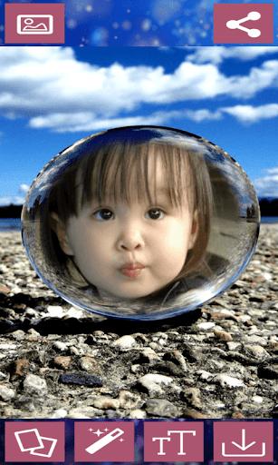 Crystal Ball Photo Frames