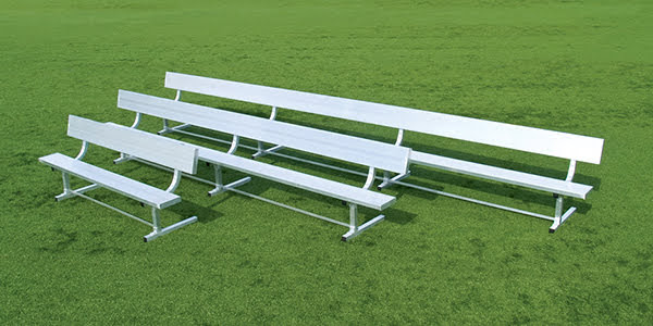 All Alluminum Bench with Backrest