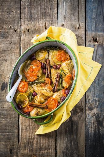 One-dish baked Greek chicken casserole
