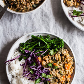 Creamy Coconut Curried Green Lentils (& Bowls).