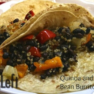 Quinoa and Black Bean Burritos.