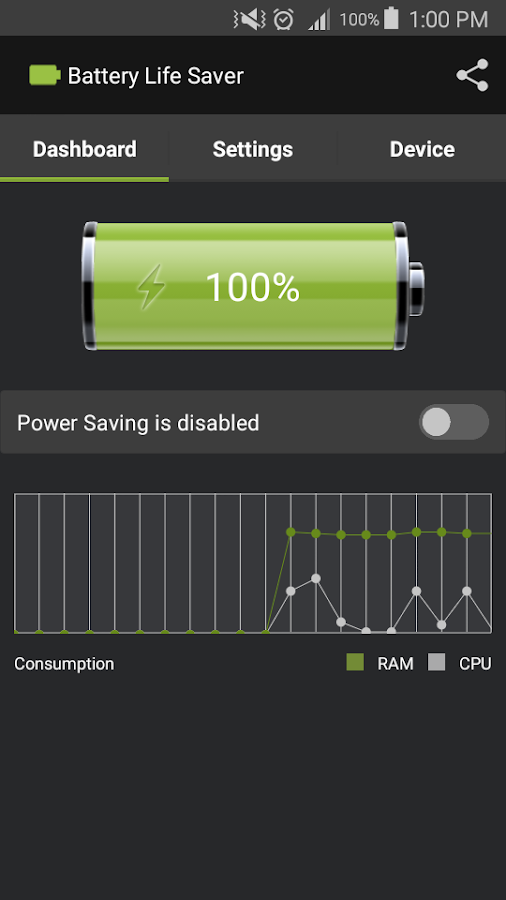 Battery Life Saver- screenshot